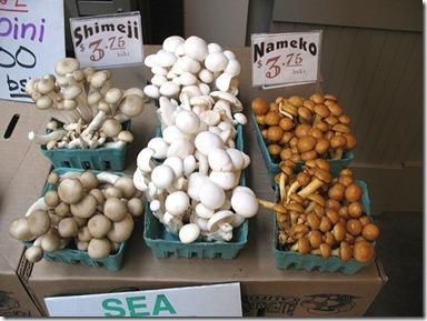 funghi coltivati in vendita in un mercato americano